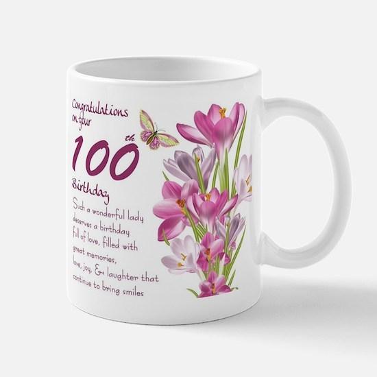 100th Birthday Crocus Gift Mug Mugs