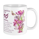 90th birthday Standard Mugs (11 Oz)