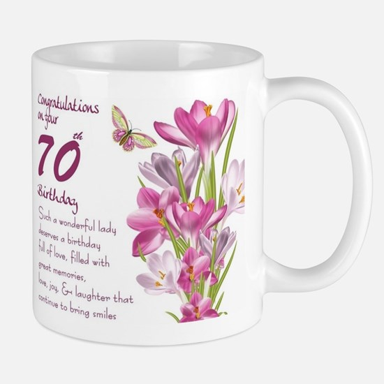 70th Birthday Greeting Gift Mug Mugs