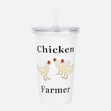 Chicken Farmer Acrylic Double-wall Tumbler