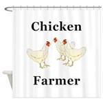 Chicken Farmer Shower Curtain