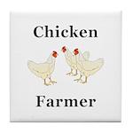 Chicken Farmer Tile Coaster