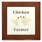 Chicken Farmer Framed Tile