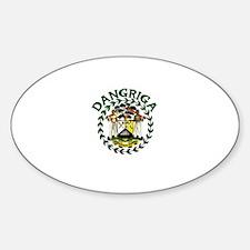Dangriga, Belize Oval Decal