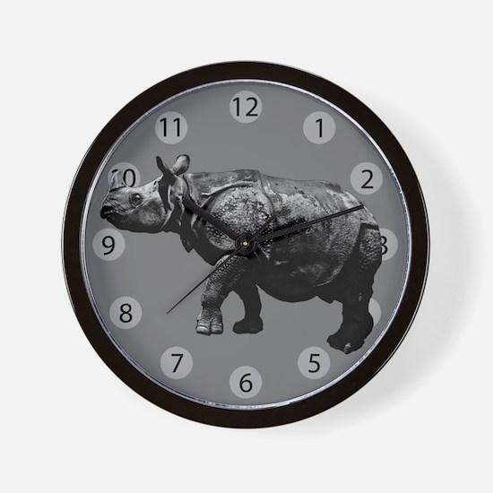 Black Rhino Wall Clock