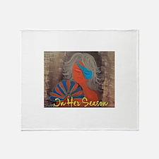 In Her Season Throw Blanket