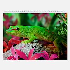 Gecko Lizard Wall Calendar