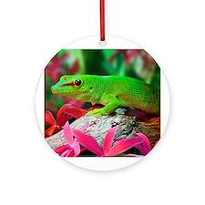 Gecko Lizard Ornament (Round)
