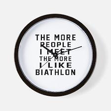 I Like More Biathlon Wall Clock