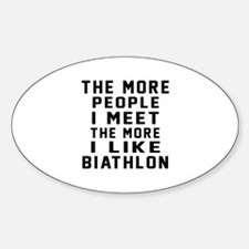 I Like More Biathlon Decal
