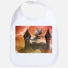 Dragon over a castle Bib