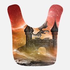 Dragon over a castle Bib