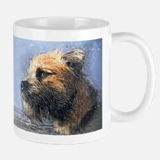 Border Terrier Dog Oil Painted Gift Mug Mugs