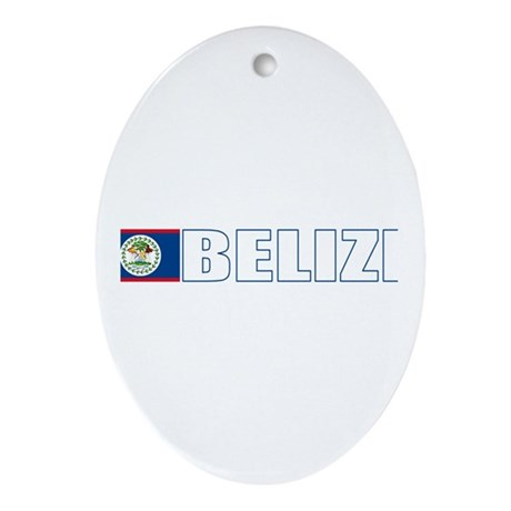Belize Oval Ornament