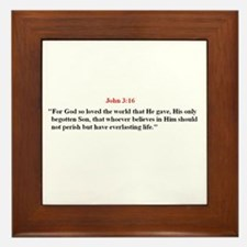 Scripture from the Bible, say Framed Tile