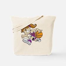 BASKET GIRL PURPLE AUTISM RIBBON Tote Bag