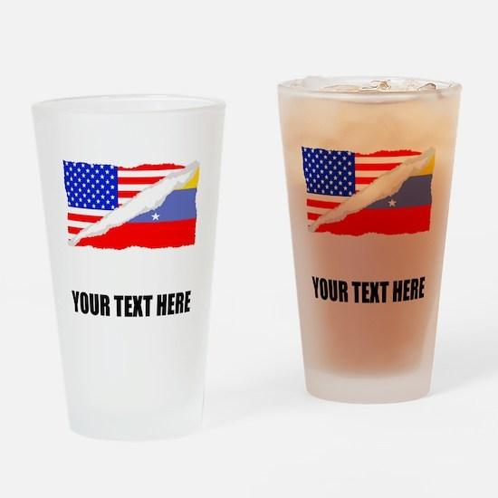 Venezuelan American Flag Drinking Glass
