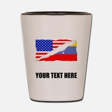 Venezuelan American Flag Shot Glass