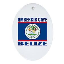 Ambergis Caye, Belize Oval Ornament