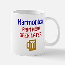 harmonica Pain now Beer later Mug