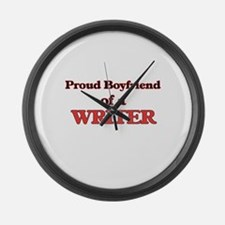 Proud Boyfriend of a Cosmologist Large Wall Clock