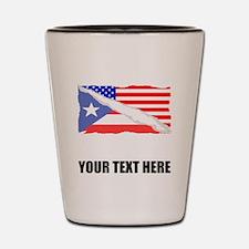 Puerto Rican American Flag Shot Glass