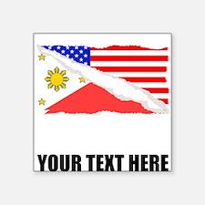 Filipino American Flag Sticker