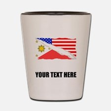Filipino American Flag Shot Glass