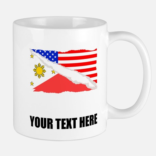 Filipino American Flag Mugs