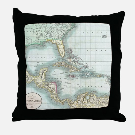 Cute Caribbean Throw Pillow
