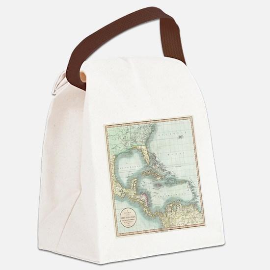 Cute Caribbean Canvas Lunch Bag