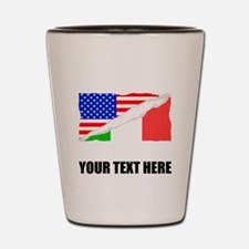 Italian American Flag Shot Glass