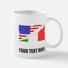 Italian American Flag Mugs