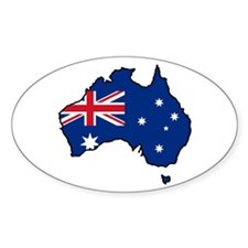 Cool Australia Oval Decal