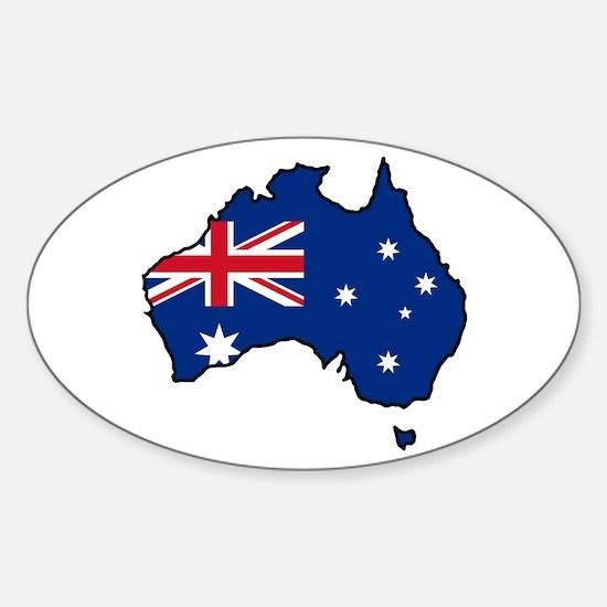 Cool Australia Oval Decal