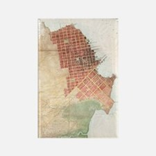 Funny San francisco map Rectangle Magnet