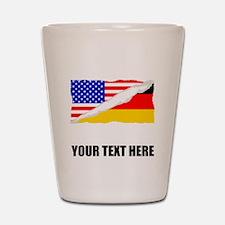 German American Flag Shot Glass