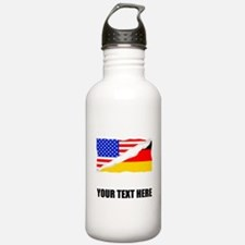 German American Flag Water Bottle