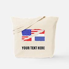 Dominican American Flag Tote Bag