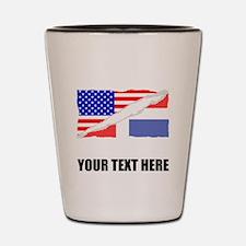 Dominican American Flag Shot Glass