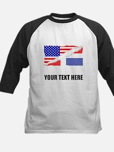 Dominican American Flag Baseball Jersey