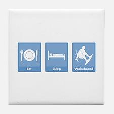 Eat, Sleep, Wakeboard Tile Coaster
