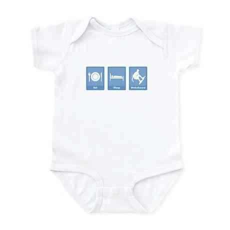 Eat, Sleep, Wakeboard Infant Bodysuit