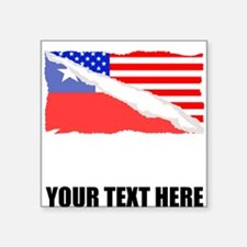 Chilean American Flag Sticker