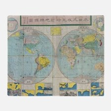 Maps and places Throw Blanket