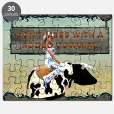 Rodeo Cowgirl Humor Puzzle