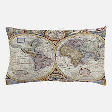 Unique Vintage world map Pillow Case