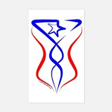 Puerto Rico Tribal Rectangle Decal