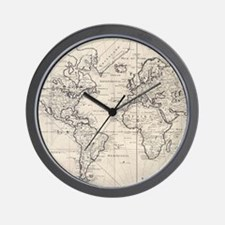 Antique world map Wall Clock
