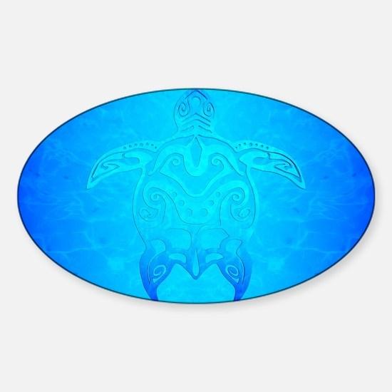 Ocean Blue Tribal Turtle Decal